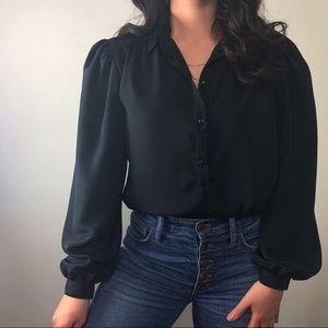 VINTAGE/ silky basic blouse